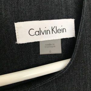 Calvin Klein Dresses - Denim Colored Calvin Klein Fitted Dress Size 6